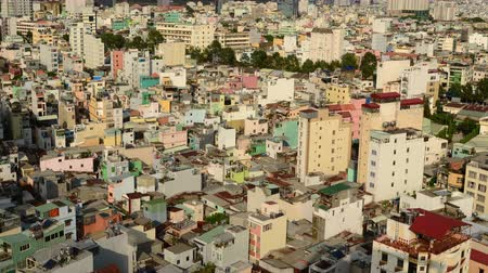 vietnamec : Time Lapse of Shadows sweeping Across Rooftops in Ho Chi Minh City Vietnam Dostupné videozáznamy