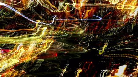deli : Experimental Abstract Light Patterns created from Long Exposures