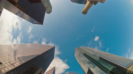 ügy : Time Lapse of Clouds and Office Buildings in Los Angeles  - 4K Stock mozgókép