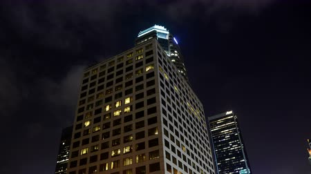 trabalho : Time Lapse of Building at Night Downtown Los Angeles   - 4K