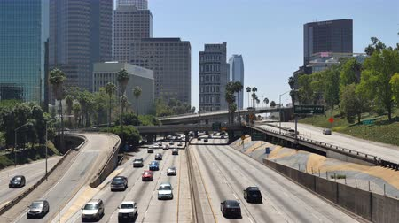 marmeláda : Time Lapse  - Overhead View of Traffic on Busy 10 Freeway in Downtown Los Angeles California