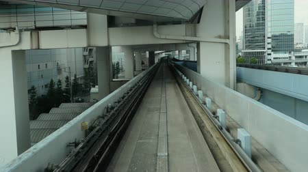 schody : Time Lapse POV of the Tokyo Monorail System with Skyline -  Tokyo Japan Wideo