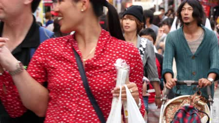 japonka : Time Lapse of People in Downtown Tokyo-  Tokyo Japan Wideo