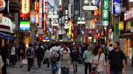 скрестив : Time Lapse of Busy Shibuya Shopping District Daytime  - Shibuya, Tokyo Japan