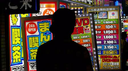 рекламный : Time Lapse of People Walking in Front of Japanese Advertisements-  Tokyo Japan