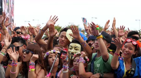 festivais : Large Crowd at Electronic Music Festival - Tokyo Japan