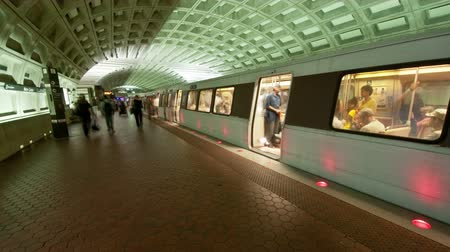 train workers : Time Lapse of the DC Metro -  4K - 4096x2304 Stock Footage