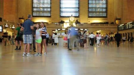ondergronds : Time-lapse van Grand Central Station - New York - 4K - 4096x2304