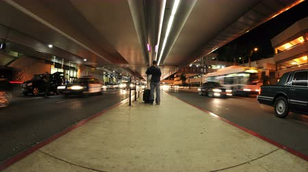 airport bus : Time Lapse of LAX Airport - 4K Stock Footage