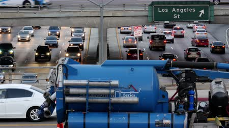 marmeláda : Overhead Time Lapse View of Traffic on Busy Freeway in Downtown Los Angeles California Dostupné videozáznamy