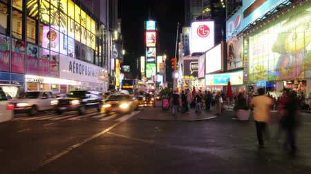 pedestre : Time Lapse  of Times Square - New York -  4K - 4096x2304