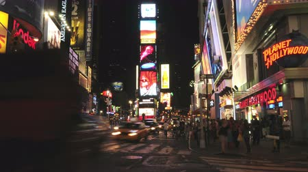 čas : Time Lapse  of Times Square - New York -  4K - 4096x2304