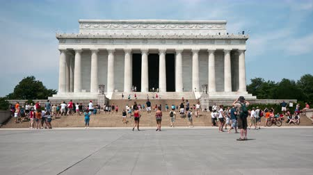 war : Time Lapse of The Lincoln Memorial -  4K - 4096x2304 Stock Footage