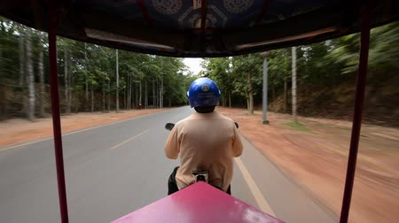 Time Lapse of Tuk Tuk Taxi Driver in Siam Reap Angkor Wat Wideo