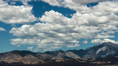 cold desert : Time Lapse Pan of Scenic Desert Mountains and Clouds