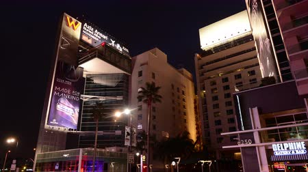 pokoj : Traffic Time Lapse Day to Night W Hotel Hollywood Blvd California