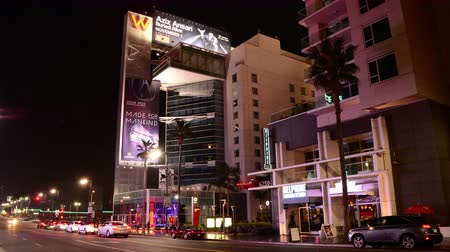 pokoj : Traffic Time Lapse at Night W Hotel Hollywood Blvd California