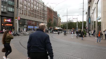 Time Lapse of Dutch Trams and Street Scene - Amsterdam Pays-Bas