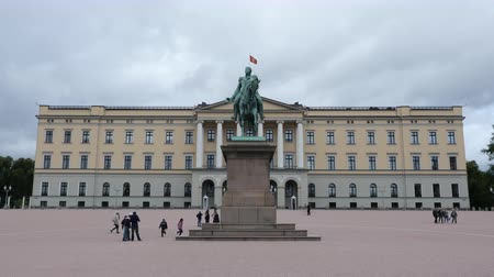 Clouds & People at the Royal Palace Oslo Norway
