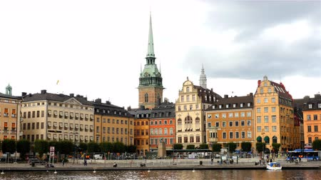 airial : Scenic Downtown Stockholm - Daytime Stock Footage