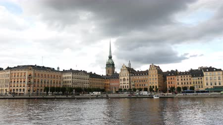 airial : Time Lapse of Scenic Downtown Stockholm - Daytime