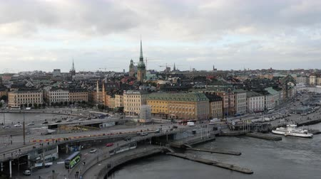 airial : Time Lapse of Traffic & Skyline in Stockholm Sweden