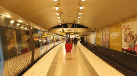 Time Lapse Zoom - Busy Subway Station Platform-  Stockholm Sweden