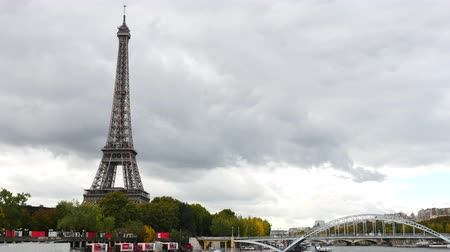 Time Lapse of the Eiffel Tower & Bridge Daytime - Paris France