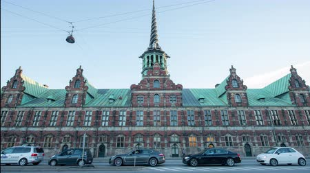 Time Lapse of The Borsen  Stock Exchange - Copenhague Danemark
