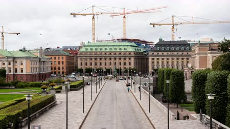 Time Lapse - Government Buildings -Stockholm Sweden Stock mozgókép