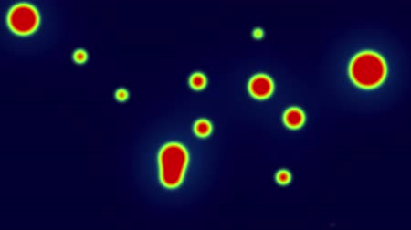 fizik : Animation of red bacteria are moving with green light on blue background Stok Video