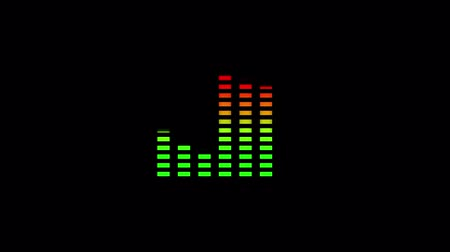 equalizador : Animation of waveform with visualization of audio wave with color changing from green to red on black background Vídeos