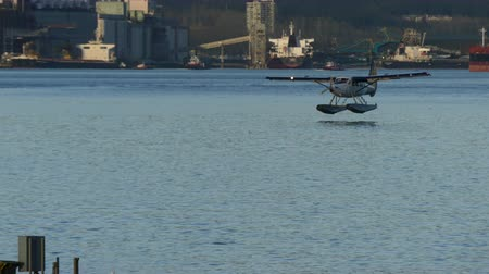 slowing : Hydro plane landing on water Vancouver