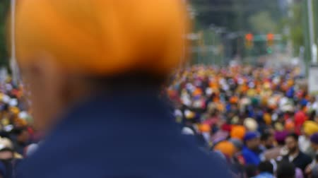 bufanda : Anonymous multitud sikh desfile Vaisakhi Archivo de Video