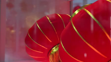 sorok : Beautiful decor red lanterns Stock mozgókép
