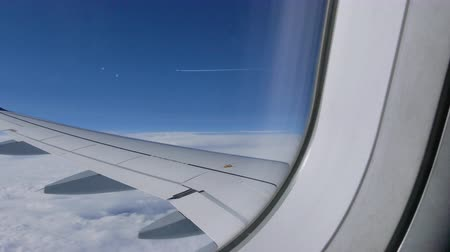 световой люк : White clouds airplane window sunshine
