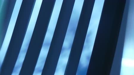 rolety : Blue sky clouds through blinds Wideo