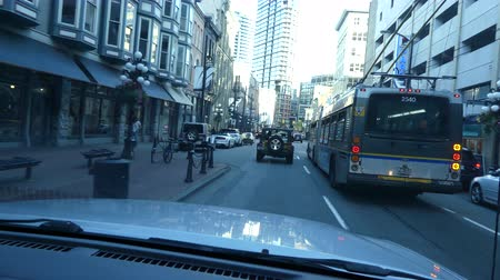 architecture and urbanism : Driving through Vancouver downtown