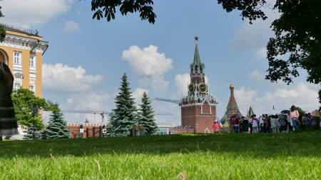 visitante : Moscow Kremlin wide shot Stock Footage