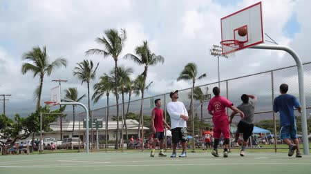plac zabaw : Basketball game Hawaii Maui, November 2016 Wideo