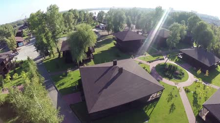 baltské moře : Beautiful spans over the park paths on the quadrocopter