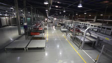 ceramika : Industrial interior, modern factory interior, Electrical Automated Guided Vehicles Platform