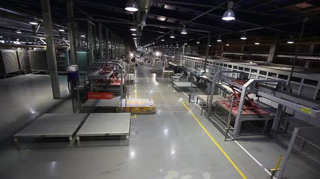 vezetett : Industrial interior, modern factory interior, Electrical Automated Guided Vehicles Platform