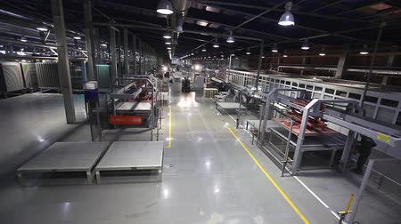 sintonia : Industrial interior, modern factory interior, Electrical Automated Guided Vehicles Platform