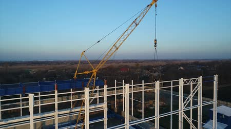combinado : Construction of a large plant, Industrial exterior, panoramic view from the air, Construction site, metal structure, construction machinery, Aerial view of the construction