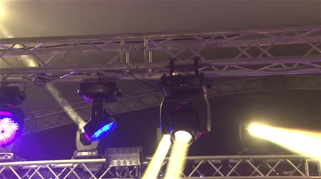 tiyatro : Stage lights at the concert with fog, Stage lights on a console, Lighting the concert stage, entertainment concert lighting on stage, new year, christmas, new year holidays