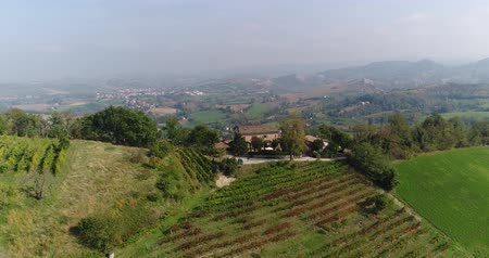 viticultura : A beautiful house on top of a mountain, a small private winery on top of a mountain