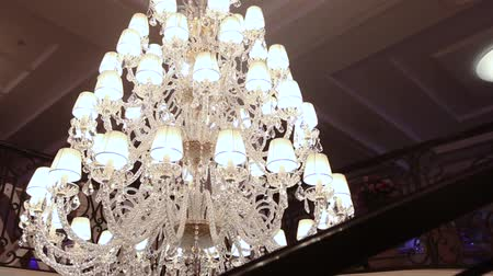 manor : big beautiful vintage chandelier, Classic chandelier, beautiful decoration