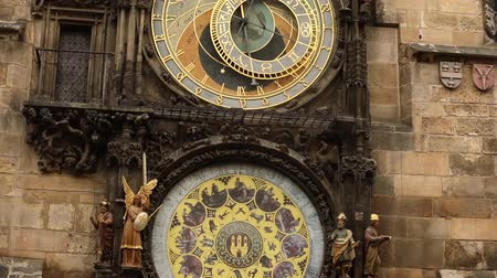 asztrológiai : Astronomical clock in Prague, Czech Republic, situated at the Old Town Square. Prague Astronomical Clock