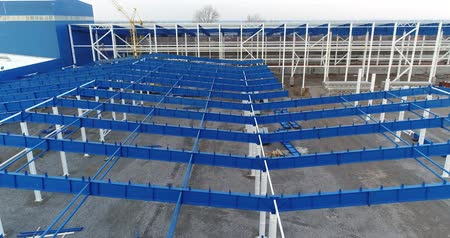 hangar : Construction view from above, construction process, construction company, building construction process